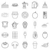 Supply icons set, outline style Royalty Free Stock Photos