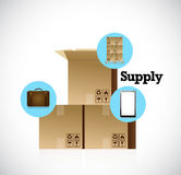 Supply icons for the shipping industry. Royalty Free Stock Photos