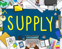 Supply Production Strategy Distribution Business Concept Royalty Free Stock Images