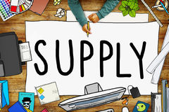Supply Production Strategy Distribution Business Concept Stock Photography