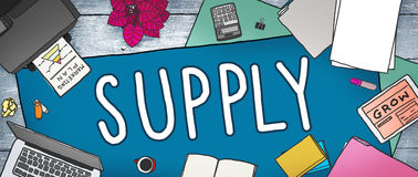 Supply Production Strategy Distribution Business Concept Stock Images
