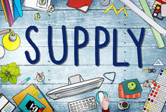 Supply Production Strategy Distribution Business Concept Royalty Free Stock Image