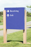 Supply Receiving. Entrance at a local hospital Royalty Free Stock Photos