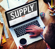 Supply Supplier Production Logistics Industry Concept Royalty Free Stock Image