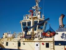 Supply utility ship vessel Stock Image