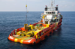 Supply vessel Stock Image