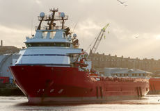 Supply Vessel. Offshore Supply vessel north sea aberdeen harbor, Scotland Stock Image
