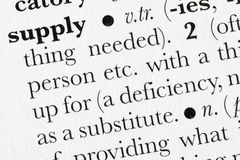 Supply word dictionary definit royalty free stock photo