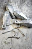 Supplys 1 de la pesca imagen de archivo