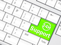 Support 24 hours concept Stock Image