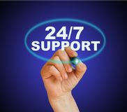 24/7 support Photographie stock libre de droits