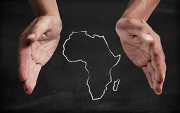 Support africa. Shown in a symbolic way Royalty Free Stock Photo