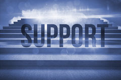 Support against steps against blue sky Royalty Free Stock Photography