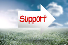 Support against sunny landscape Stock Photography