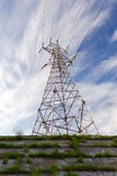 Support of an air-line of an electricity transmission Stock Image