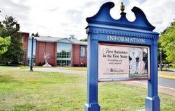 Support américain de l'information de musée d'arts du Delaware photos libres de droits
