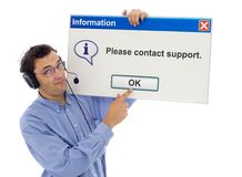 Support amical avec le message Photos stock