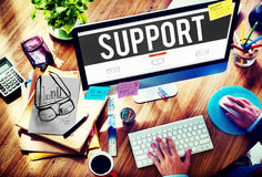Support Assistance Aid Community Motivation Team Concept Royalty Free Stock Image