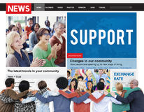 Support Assistance Cooperation Team Aid Concept Royalty Free Stock Photo