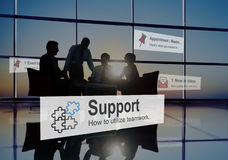 Support Assistance Cooperation Team Aid Concept royalty free stock image