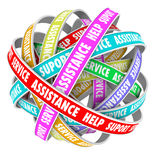 Support Assistance Help Support Endless Cycle Always Available Stock Images