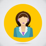 Support assistant flat design Stock Photo