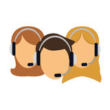 Support assistants technical icon. Image,  illustration Stock Photography