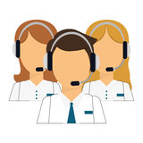 Support assistants technical icon. Image,  illustration Stock Photo