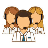 Support assistants technical icon. Image,  illustration Royalty Free Stock Image