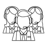 Support assistants technical icon. Image,  illustration Royalty Free Stock Photography