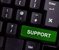 Support auf Tastatur stockbild