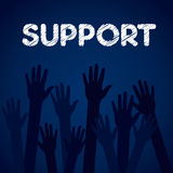 Support background  Stock Photography