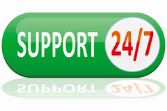 Support banner. Isolated on white background Stock Images