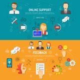 Support Banner Set Royalty Free Stock Photos