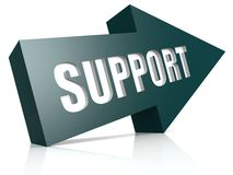 Support blue arrow Stock Photo