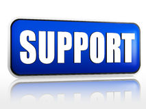 Support blue banner Stock Photo