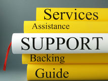 Support books and customer services  Royalty Free Stock Photos