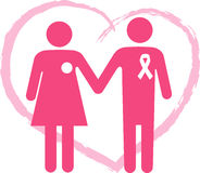 Support a breast cancer surviver Stock Photography