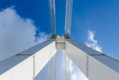 Support bridge. On the sky background Royalty Free Stock Photography