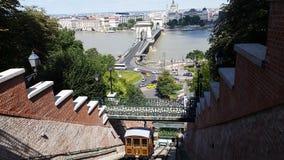 Support Budapest Hongrie de train Images libres de droits