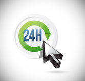 24 7 support button illustration design. Over a white background Royalty Free Stock Images