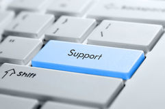 Support button on a keyboard Royalty Free Stock Images
