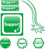 SUPPORT button web glass icon Royalty Free Stock Photography