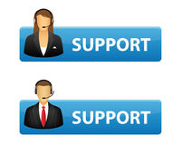 Support buttons Royalty Free Stock Images