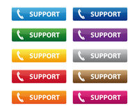 Support buttons Stock Photography
