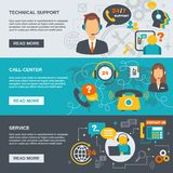 Support Call Center Banner Royalty Free Stock Image
