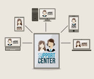 Support center design Royalty Free Stock Photo