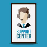 Support center design Royalty Free Stock Photography