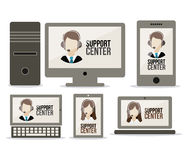 Support center design Royalty Free Stock Images