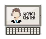 Support center design Stock Image